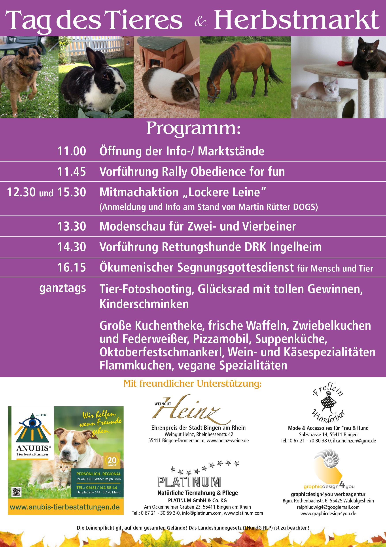 Tag des Tieres Flyer Bild Programm